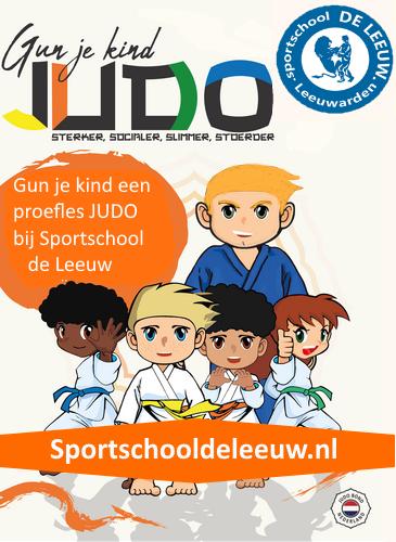 Gun je kind judo Sportschool de Leeuw Leeuwarden